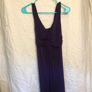 Purple Petite Maxi Bridesmaids Dress